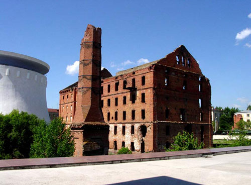 Remains of the Hergert mill in Volgograd (Stalingrad). This stands as part of the memorial to the battle of Stalingrad during WWII.