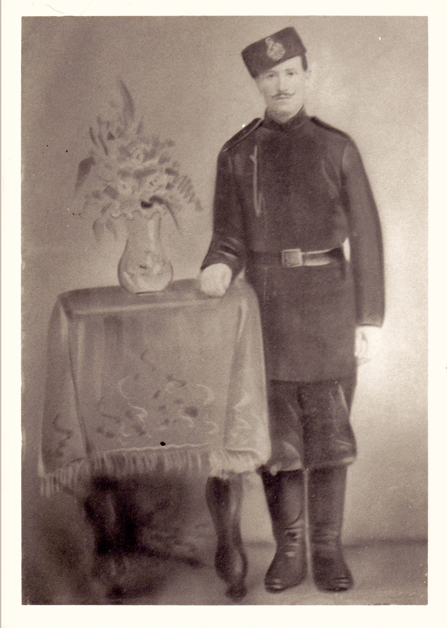 Photograph of Georg Dahmer in military uniform. Georg was born in Beideck. Photograph courtesy of Michelle Reynolds.