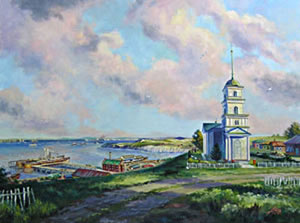 Painting of Schilling, Russia by artist Michael Boss.