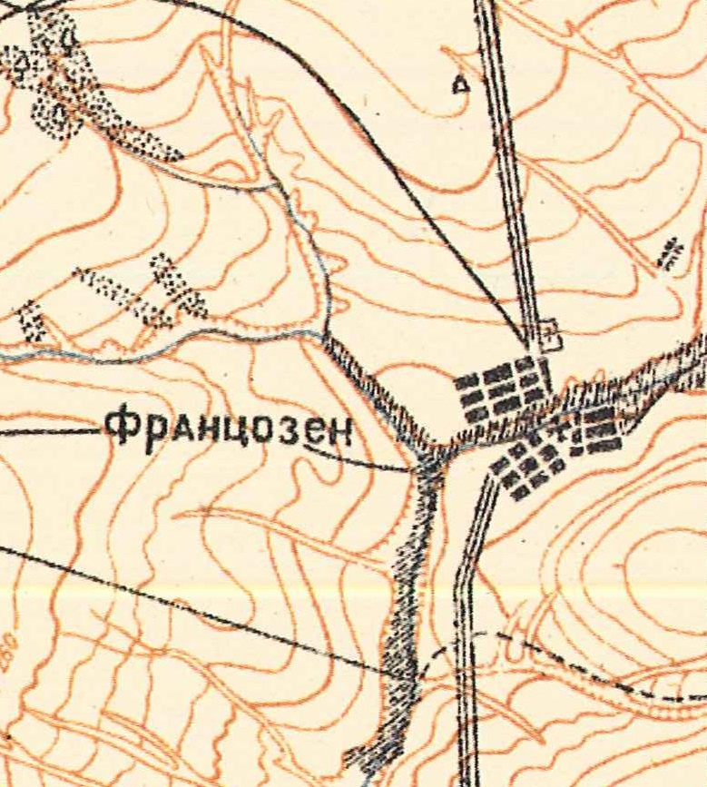 Map showing Franzosen (1935).