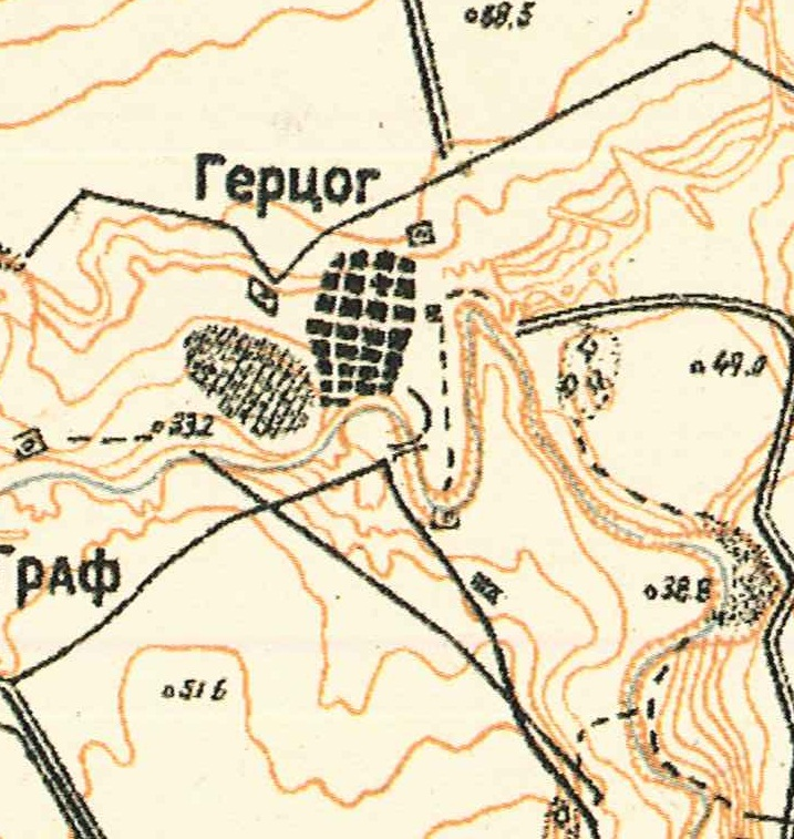 Map showing Herzog (1935).