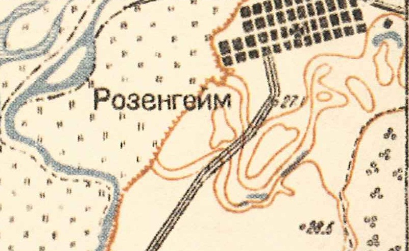 Map showing Rosenheim (1935).