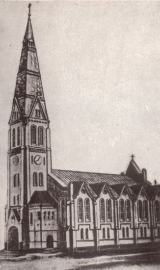 Zürich Lutheran Church of Jesus. Built in 1877. Source: Heimatbuch, 1972.