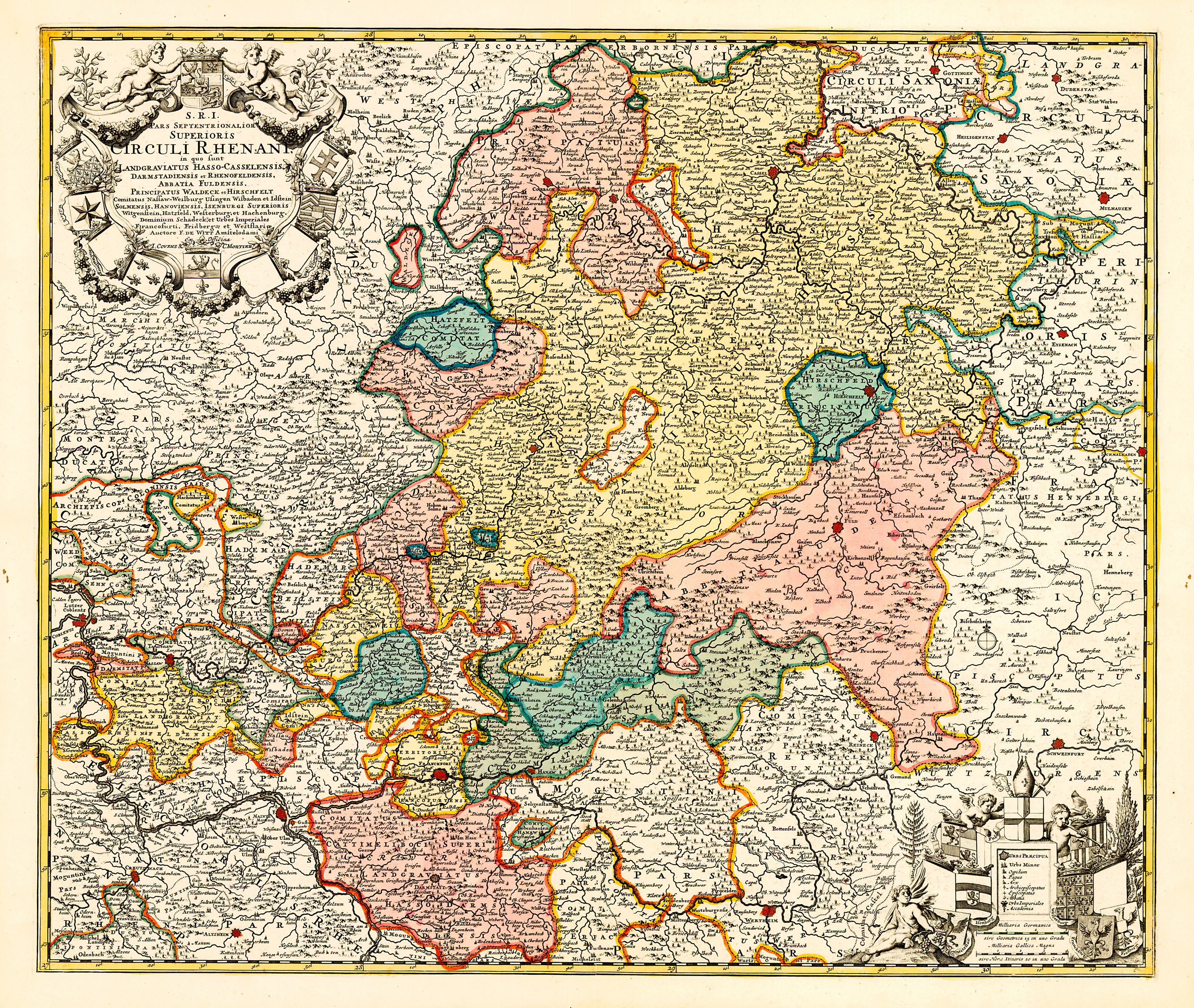 Map of the central German states in the 1760s. Source: Steve Schreiber.